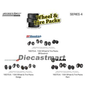 Greenlight 1:64 Auto Body Shop Wheels & Tire Set BFGoodrich Dodge Ram 16070 New