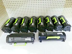 LOT OF 10 LEXMARK B231000 Black Toners Cartridge USED/EMPTY/Genuine!!