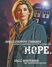 Jodie Whittaker DOCTOR WHO Signed 10x8 Photo AFTAL OnlineCOA PHOTOPROOF