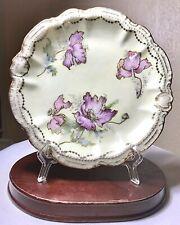 """Antique Porzellanfabrik Moschendorf PM Bavaria Hand Painted Floral Plate 7.5"""""""