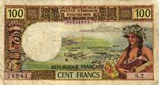06 Tahiti Papeete P24b 100 Francs 1973