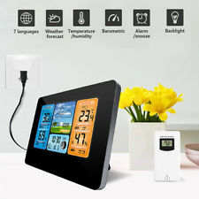 Wireless Digital LCD Color Screen Weather Station Clock Calendar Thermometer