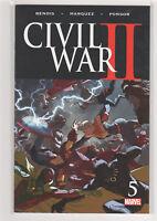 Civil War 2 #5 Iron Man Captain Marvel Inhumans Spiderman Hulk Brian Bendis 9.6