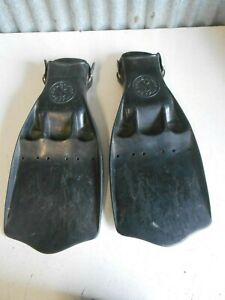 ScubaPro JetFin Fins Size X-Large Black Scuba Diving Made in USA Nice Condition