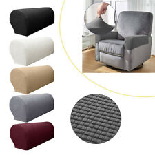 2X Removable Arm Chair Protector Universal Sofa Couch Armchair Covers Armrest