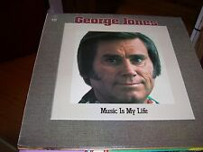 GEORGE JONES-MUSIC IS MY LIFE-LP-VG-K-TEL-JAMES TAYLOR-TAMMY WYNETTE-PAYCHECK