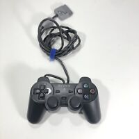 OFFICIAL Sony PlayStation PS1-PS2 Controller Black Dual Shock SCPH-1200 TESTED