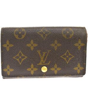 Auth Louis Vuitton Monogram Portofeuil Tresor M61736 Leather,PVC Middle  09GC814
