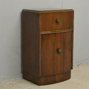 Single vintage Bedside Cabinet with Drawer Walnut veneer delivery available