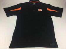 Large Majestic Cincinnati Bengals Polo Black Orange