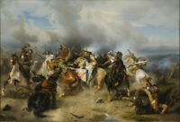 "oil painting on canvas ""  King Gustav II Adolf of Sweden at the Battle"""