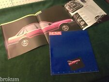 MINT CHEVROLET 1985 /1986 CHEVY NOVA SALES BROCHURE W/ POSTER NEW (BOX 462)