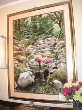Waterfall by Sahall large framed Signed Ltd Ed Lithograph 212/300 Very Good Cond