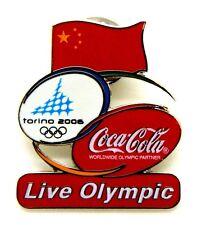 Pin Spilla Olimpiadi Torino 2006 - Coca-Cola Flag China
