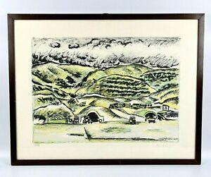 Orfeo TAMBURI (1910-1994) QUADRO CON CORNICE LITOGRAFIA FIRMATA NUMERATA OPERA