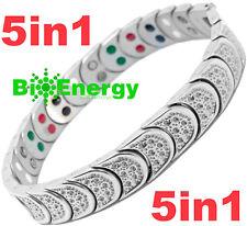 Jade Magnetic Energy  Power Bracelet Health TITANIUM 5 in 1 Armband BIO germaniu