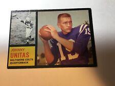 ORIGINAL 1962 TOPPS #1 JOHNNY UNITAS FOOTBALL CARD -BALTIMORE COLTS QB