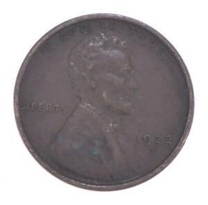 Semi Key 1922-D VF/XF Lincoln Wheat Cent - Sharp *620