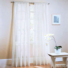 Solid White Curtain Voile Netting Blind Curtain Lace Long Sheer 100 x 200cm New