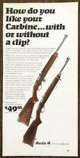 1967 Marlin Automatic .22 Rifles Print Ad How Do Like Your Carbines