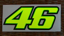 2 Valentino Rossi 46 Decal 1 Sticker Fluorescent Yellow - big size cm. 20 x 8,3