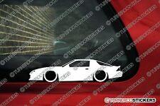 2x Baja, Chevrolet Camaro 3rd generación (1982-1992) Rebajado Coche Pegatinas de contorno