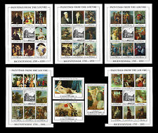 St. Vincent & Grenadines. Louvre Museum. Art. Set of 5 sheets & 3 SS. Rare. MNH