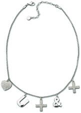 Swarovski necklace rhodium crystal love you more & more