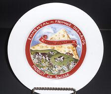 Restoration Hardware Dessert Salad Plate Swiss Cheese Produit du Suisse 2000