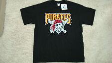 Pittsburgh Pirates T-Shirt Black Heavy Duty Logo !!!  ( L )  Free Shipping !!!