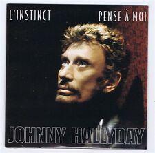 CD SINGLE (NEUF) 2 TITRES  JOHNNY HALLYDAY L'INSTINCT / PENSE A MOI