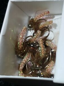 FLY FISHING FLIES BEAD HEAD NYMPH EXTENDED MIDGE PUPA TROUT SIZE 12