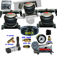 """Universal Tow Level Air Assist Kit Heavy Load Lifter 5000lb 3/8"""" airmanagement"""
