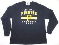 $40 Pittsburgh Pirates Men's Black Baseball Long Sleeve T-shirt Shirt jersey