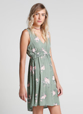 NEW! AUTHENTIC RIACHUELO SLEEVELESS SKATER DRESS (GREEN FLORAL, SIZE 38/ MEDIUM)