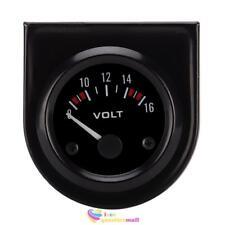 Boat Auto Car Black Face 2 Inch 52mm Voltmeter Volt Voltage Gauge Meter12V LED