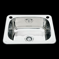Laundry Sink 304 Stainless Steel 45L 600x500x225mm