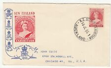 New Zealand: Stamp Exhibition Cover, Auckland to Chicago, 19 July 1955