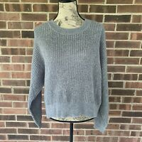 NWT H&M grey long sleeve pullover sweater Women's Size US Small Regular