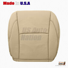 Fits 2010 2011 2012 Lexus ES350 Driver Bottom Tan Perforated Leather Seat Cover