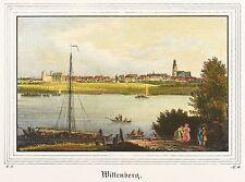 Wittenberg-vista general-Saxonia-iluminados litografía 1836
