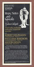 Maina Gielgud,  Steps, Notes and Squeaks,  Old Vic  London 1979 Helpmann   JX561