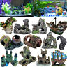 Mountain View Aquarium Rock Cave Tree Bridge Fish Tank Ornament Rockery Deco Lot