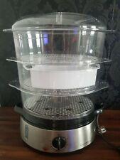 Cookworks 3 Bowl Steamer 9 Litre Capacity