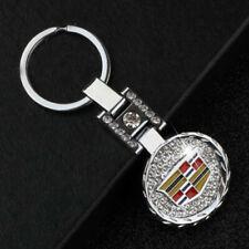 Metal Key Chain Car Double Side Logo Pendant Keyfob Holder Silver for Cadillac
