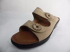 Flexus Faithful Slide Sandals Beige Size EU40 (US 9)