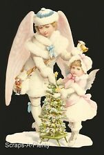 German Embossed Scrap Die Cut - Lrg. Christmas / Easter Mom & Child Angel BK5171