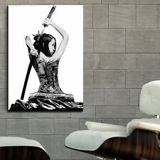 Poster Geisha Samurai Girl Tattoo Erotic 35x50 inch (90x130 cm) on Canvas