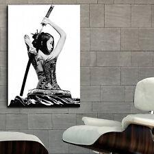 Poster Geisha Samurai Girl Tattoo Erotic 35x50 inch (90x130 cm) on Canvas