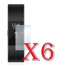 6 PZ PELLICOLA PROTEZIONE PER Fitbit Charge 2 PELLICOLE PROTEGGI SCHERMO LCD